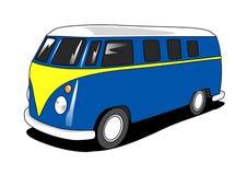 Retro Minibus. 2D illustration of a retro minibus Stock Image