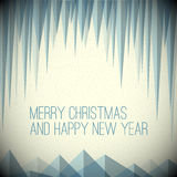 Retro minimalistic Christmas card Royalty Free Stock Photos