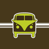 Retro minivan royalty free illustration