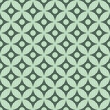 Retro mint different vector seamless patterns Royalty Free Stock Photo