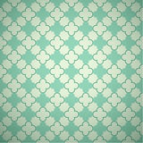 Retro mint different vector seamless patterns Royalty Free Stock Photos