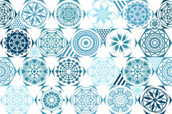 Retro mint Universal different vector seamless patterns. tiling. Endless texture can be used for wallpaper, pattern fills, web pag stock illustration