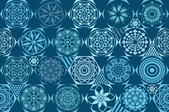 Retro mint Universal different vector seamless patterns. tiling. Endless texture can be used for wallpaper, pattern fills, web pag. E background,surface textures Royalty Free Stock Images