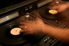 Retro- Mischer DJ Stockfotografie