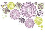 Retro mit Blumenfahne Lizenzfreie Stockbilder