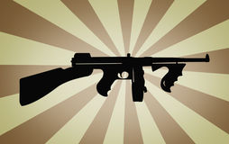 Retro mitragliatrice fotografia stock