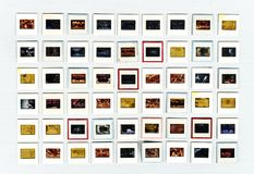 Retro- 35mm Entsprechungs-Filmdia künstlerisch stockbild