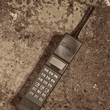 Retro mobile phone Stock Photo