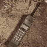 Retro mobile phone. A 1980s Retro brick mobile phone Stock Photo