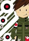 Retro Mod chłopiec ilustracja wektor