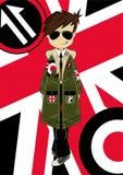 Retro Mod chłopiec royalty ilustracja