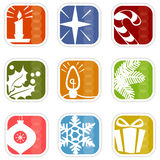 Retro Mod Christmas Icons royalty free illustration