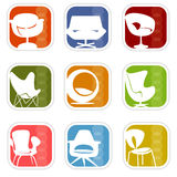 Retro Mod Icons 7 (vector) royalty free illustration