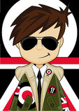 Retro Mod.-Jongen stock illustratie