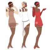 Retro moda: splendor dziewczyna lata dwudzieste (amerykanin afrykańskiego pochodzenia kobieta) ilustracji