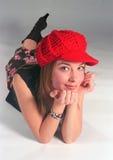 Retro- Mode des Mädchens stockfotos