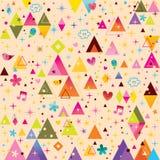 Retro modell för rolig tecknad film för trianglar skraj vektor illustrationer