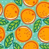 Retro modell med apelsiner royaltyfri illustrationer