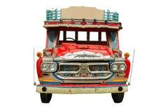 Retro modell Thailand för främre lastbil på vit bakgrund Royaltyfri Bild