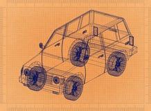Retro modello automobilistico illustrazione di stock
