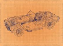 Retro modello automobilistico classico royalty illustrazione gratis