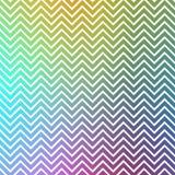 Retro modello d'annata del gallone di zigzag dell'arcobaleno Immagini Stock Libere da Diritti
