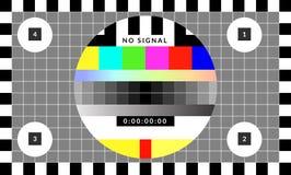 Retro modello del grafico del chip della prova che è stato usato per la calibratura della TV illustrazione di stock
