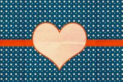 Retro modello della cartolina d'auguri Fotografia Stock