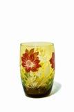 Retro modello di fiore di vetro Fotografia Stock Libera da Diritti