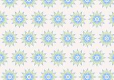 Retro modello di fiore su colore pastello Fotografie Stock Libere da Diritti
