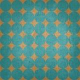 Retro modello di punti blu su fondo arancio illustrazione di stock