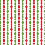 Retro modello geometrico semplice di Natale Colori tradizionali Il fondo può essere copiato senza alcune cuciture garland royalty illustrazione gratis