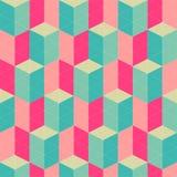 Retro modello senza cuciture geometrico astratto Fotografia Stock