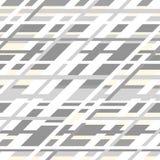 Retro modello senza cuciture geometrico di vettore nel grey Fotografie Stock Libere da Diritti