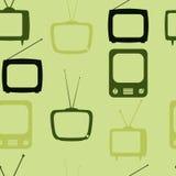 Retro modello senza giunte della TV Priorità bassa astratta variopinta Fotografia Stock