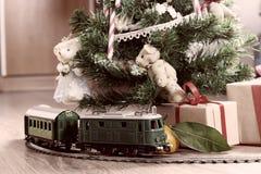 Retro modello tonificato del treno Immagine Stock