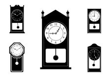 Retro and modern clock collection ,icon set Royalty Free Stock Photos