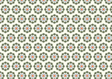 Retro and Modern Flower Pattern on Pastel Background Stock Photos