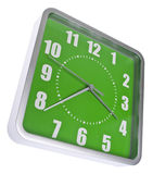 Retro Modern Green and Silver Clock Stock Photography