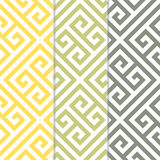Seamless Greek Key Background Pattern in Three Color Variations Royalty Free Stock Photo