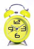 Retro modern round green clock Royalty Free Stock Photography