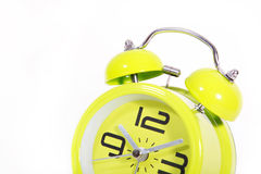 Retro modern round green clock Royalty Free Stock Images