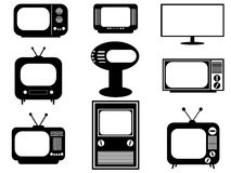 Retro and modern TV Royalty Free Stock Photos