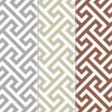 Drei verschiedene nahtlose Quert-stück Hintergrund-Muster Stockfotografie