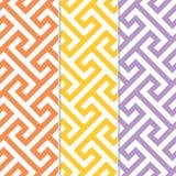 Drei verschiedene nahtlose Quert-stück Hintergrund-Muster Lizenzfreie Stockfotos