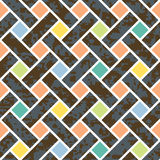 Nahtloses Korbgeflecht-Hintergrund-Muster Lizenzfreies Stockbild