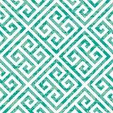 Nahtloses griechisches Schlüsselhintergrund-Muster in drei Farbveränderungen Stockbild