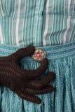 Retro mody broche Zdjęcie Stock