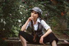 retro mody dziewczyna zdjęcie royalty free