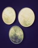 Retro moneta della RDT di sguardo Immagine Stock Libera da Diritti
